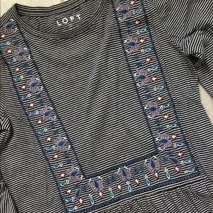 LOFT Tops - Loft Boho Embroidered Top